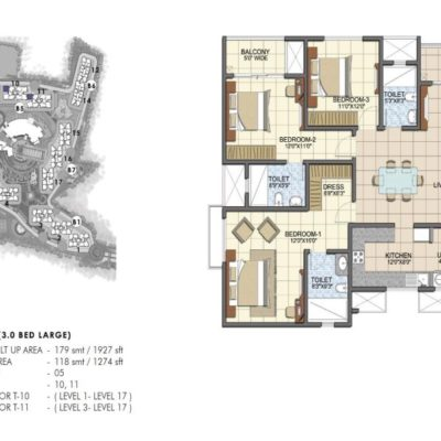 prestige-song-of-south-3-bhk-plan