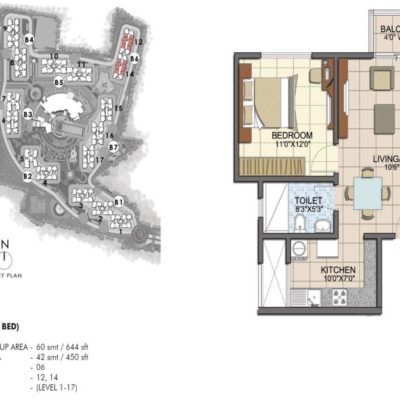 prestige-song-of-the-south-1bhk-plan