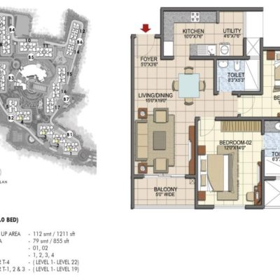 prestige-song-of-the-south-2-bedroom-plan