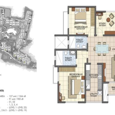 prestige-song-of-the-south-2.5bhk-floor-plan